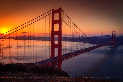 Sunrise over Golden Gate Bridge