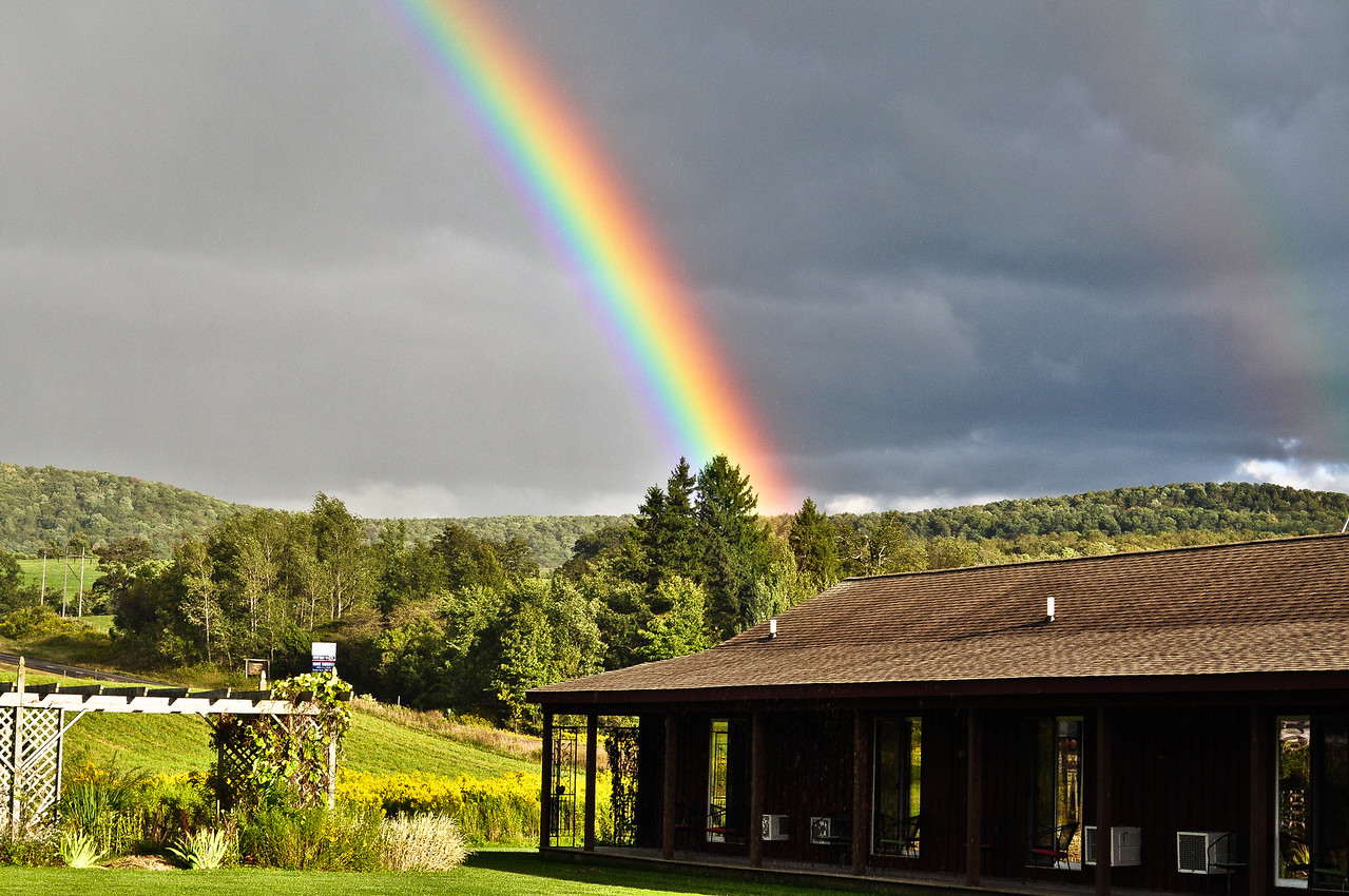 A double rainbow in East Springfield, NY on Labor Day Weekend.