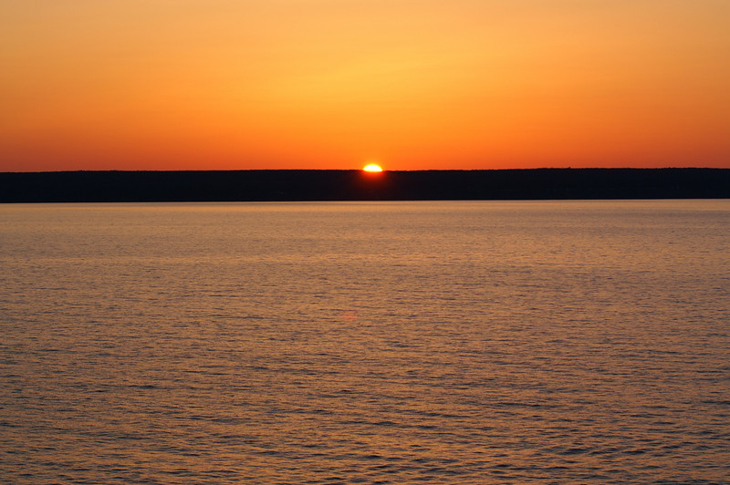 Lake Superior sunset from Miners Castle<br /> Pictured Rocks National Lakeshore