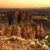 Smith Rock during sunset, Oregon, USA