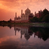 Sunrise over Taj-Mahal