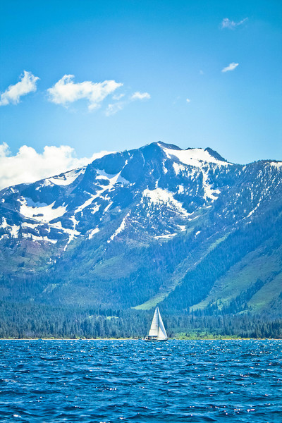 Lake Tahoe, CA., where it is just as pristine and beautiful as you'd imagine.