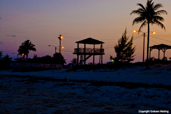 Taino beach at sunset