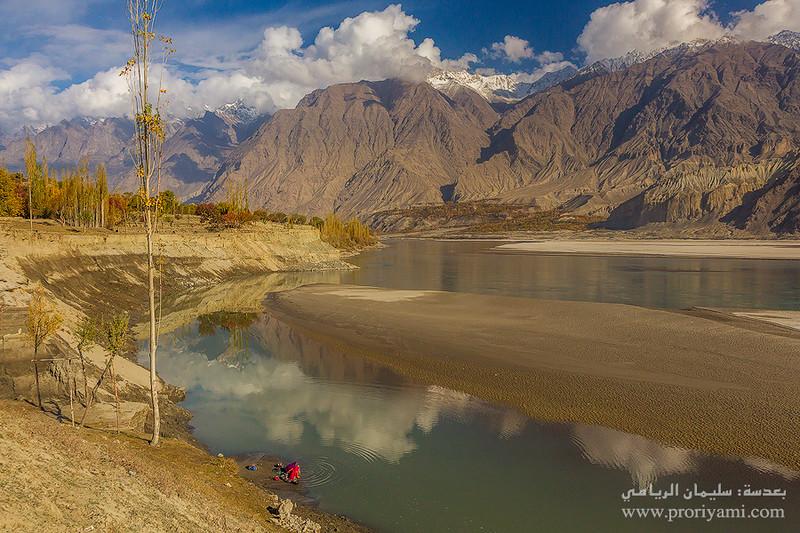"Indus river, Skardu ""Pakistan""."