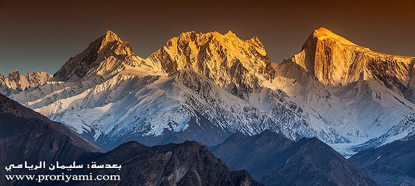 """The Golden Peak at sunset, Hunza """"Pakistan"""""""