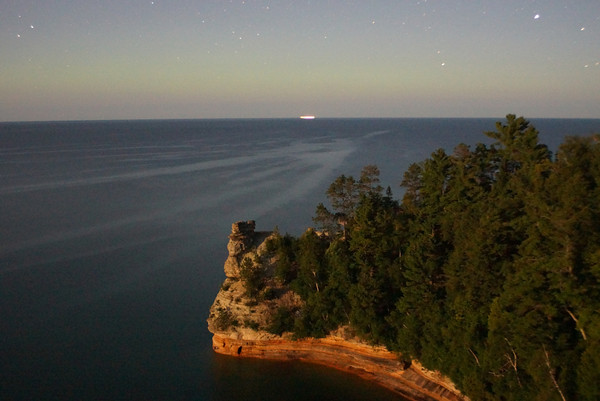Miners Castle By Moonlight