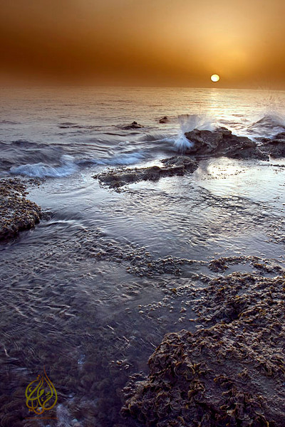 "Sunrise over Abatina coast, Suwaiq ""Oman"""