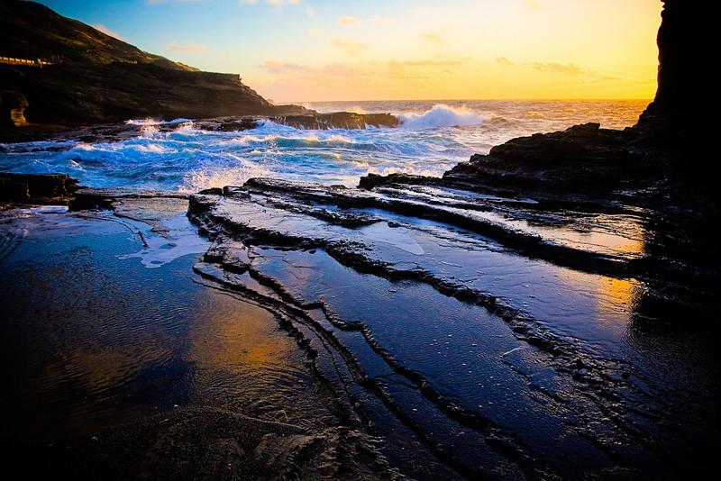 """""""Rock Waves #2"""" - Oahu, Hawaii"""