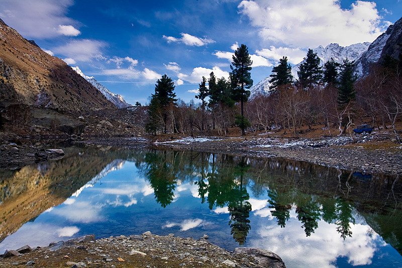 "Upper Naltar lake, Gilgit ""North Pakistan"""