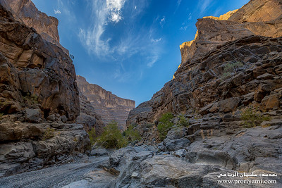 "Ghool valley and canyon ""Oman""."