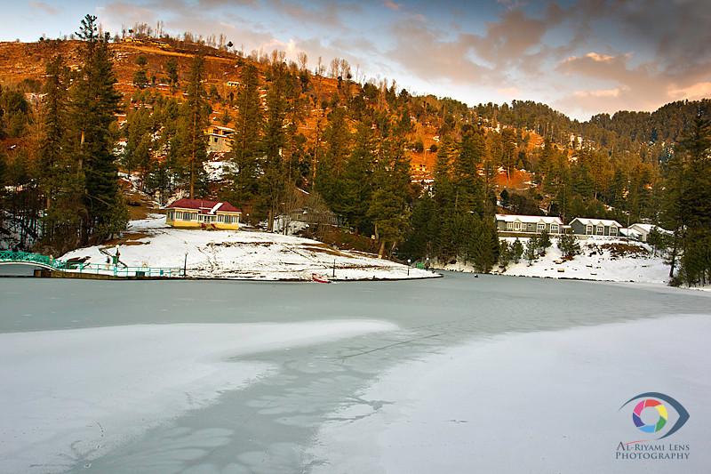 """Frozen Banjosa lake, Azad Kashmir """"Pakistan"""""""
