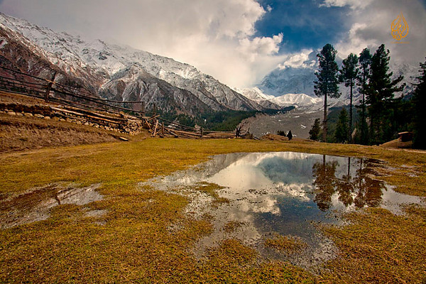 The Fairy Meadows in the Himalayan range, Pakistan