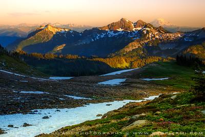 "Mt. Adams in the background shot from Mt. Rainier park, WA "" USA """