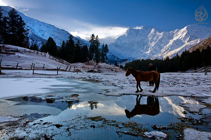 a very cold morning at Fairy meadows, Pakistan