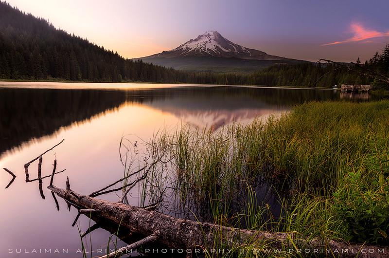 "Trillium Lake during sunrise, Oregon "" USA """