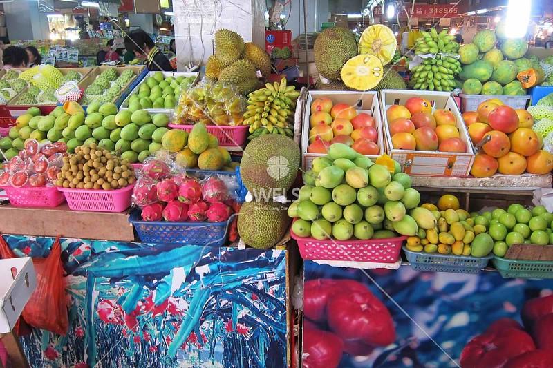 Fruit market in Sanya, Hainan China by kstellick