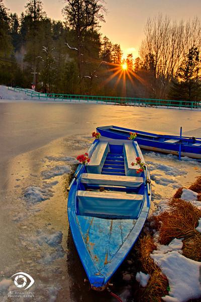 """Banjosa Lake frozen, Azad Jamu Kashmir """"Pakistan"""""""