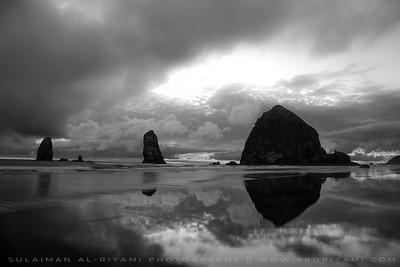 "Cannon beach in B&W, Oregon Coast "" USA """