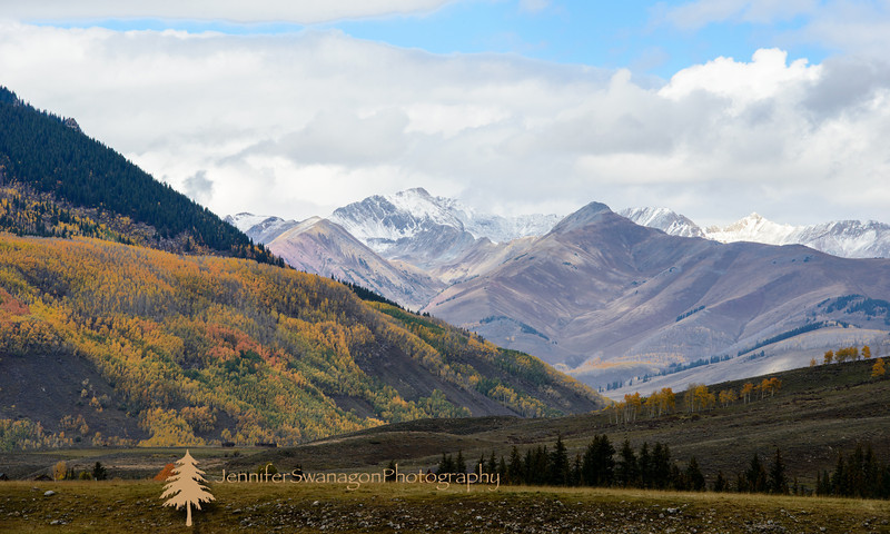 Autumn of 2012 we enjoyed an instate vacation in Crested Butte.  Definitely my favorite place in Colorado and possibly US.  On this particular day Bobby and I set out for the day's activities but we just had to pull over so I could capture the beauty of the colors and first snow.