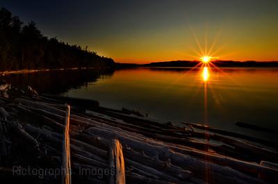 Hayes Lake Sun Setting, Summer 2020