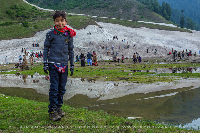 "My son ""Dawood"" in Naran ""Kaghan valley - Pakistan""."