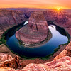Horse shoe bend sunset, Arizona, USA