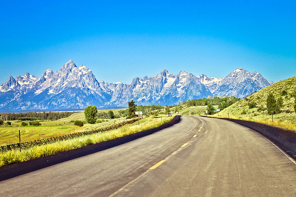 The Grand Tetons.  Aptly named.