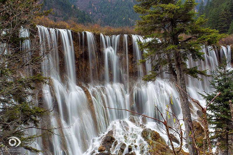 Jiuzhaigou NP waterfalls, Sichuan, China