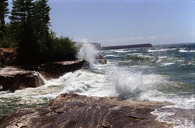 Lake Superior Pictured Rocks National Lakeshore Near Beaver Beach