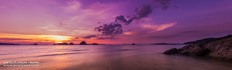 Panoramic sunset at Krabi, Thailand.