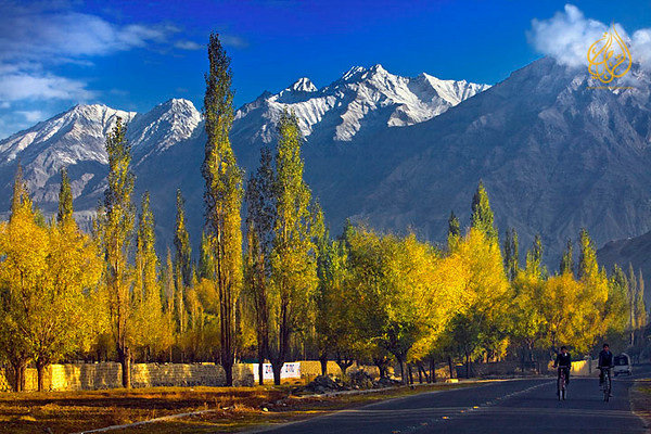Early morning shot of Skardu, Pakistan