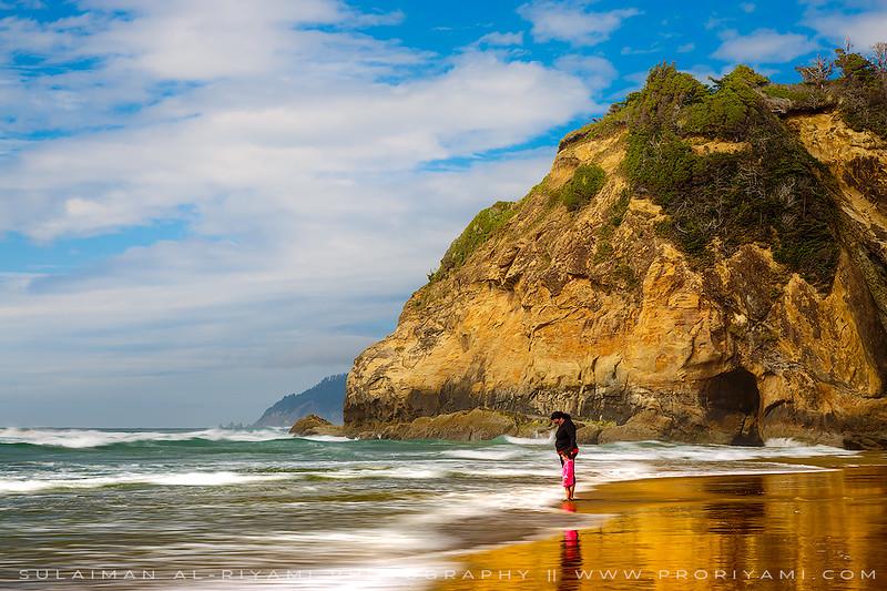 """Oregon coast Cannon beach """"Hug Point"""", USA"""