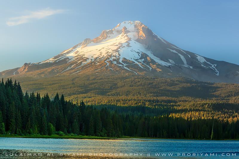 Mt. Hood during sunset, Oregon, USA