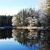 Winter river landscape. Farnebofjarden ( Färnebofjärden ) Nationalpark in Sweden.