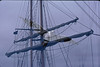 5*Mon, Aug 5, 1968<br /> *People:<br /> Subject: gull   mast<br /> *Place: berkeley marina<br /> Activity: <br /> Comments: double exposure with 50mm lens and a 135 mm lens