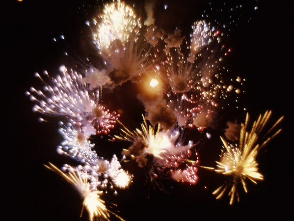 4*Sat, May 18, 1968<br /> *People:<br /> Subject: fireworks<br /> *Place: berkeley marina<br /> Activity: <br /> Comments: UC Berkeley Centennial, kinda lucky, 1/30 sec, F 1.8