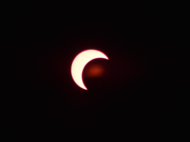 Solar Eclipse - Tucson Arizona May 20, 2012 : Phase 2<br /> Image captured with an Infra Red filter on a 400mm lens attached to the Nikon D800 mounted on a tripod and triggered via remote control. Dove Mountain area Northwest Tucson.