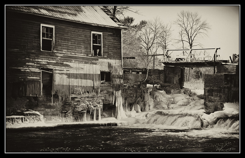 Winter at the old Stockdale Mill.