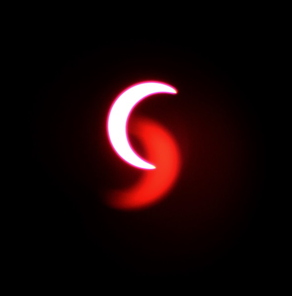 Solar Eclipse - Tucson Arizona May 20, 2012 : Phase 6<br /> Image captured with an Infra Red filter on a 400mm lens attached to the Nikon D800 mounted on a tripod and triggered via remote control. Dove Mountain area Northwest Tucson.