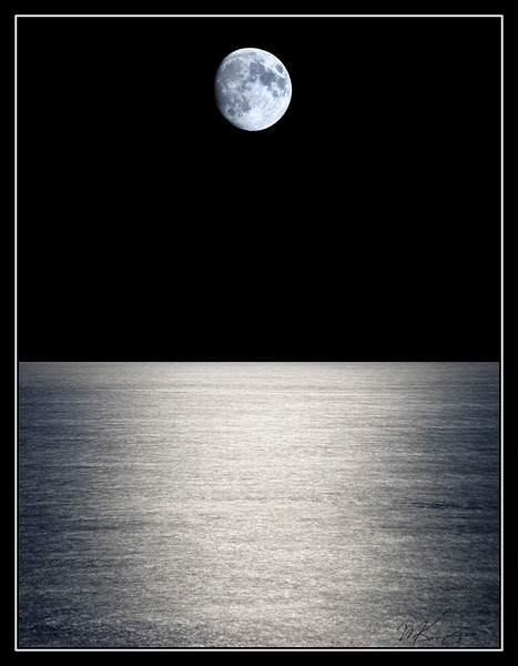 Sea of Tranquility - The water of Lake Ontario is bathed in moonlight.