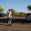 Getting ready for the solar eclipse on Dove Mountain in Northwest Tucson, Arizona, USA. The picture was taken by Ben, my new apprentice who assists me with equipment for now....