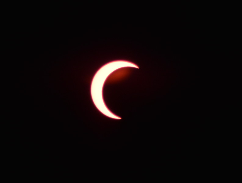 Solar Eclipse - Tucson Arizona May 20, 2012 : Phase 5<br /> Image captured with an Infra Red filter on a 400mm lens attached to the Nikon D800 mounted on a tripod and triggered via remote control. Dove Mountain area Northwest Tucson.