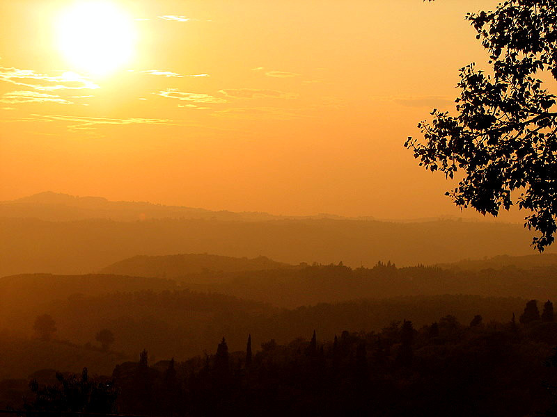 View from Villa Belvedere, Tuscany, Italy
