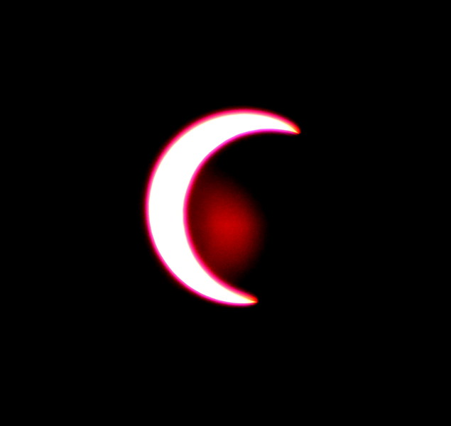 Solar Eclipse - Tucson Arizona May 20, 2012 : Phase 7<br /> Image captured with an Infra Red filter on a 400mm lens attached to the Nikon D800 mounted on a tripod and triggered via remote control. Dove Mountain area Northwest Tucson.