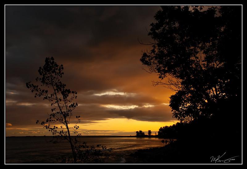 Orange Sunset Glow at Presqu'ile