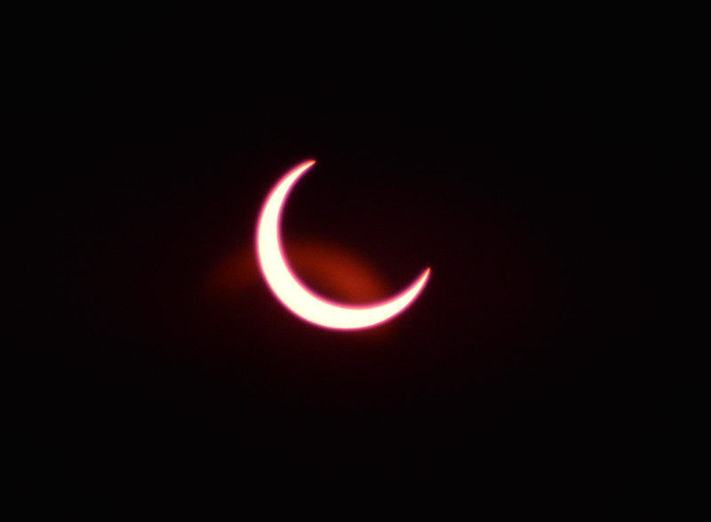 Solar Eclipse - Tucson Arizona May 20, 2012 : Phase 10<br /> Image captured with an Infra Red filter on a 400mm lens attached to the Nikon D800 mounted on a tripod and triggered via remote control. Dove Mountain area Northwest Tucson.
