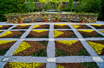 The Quilt Garden at the North Carolina Arboretum, Asheville, NC