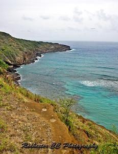 Hanauma Bay Coast in Oahu, Hawaii.