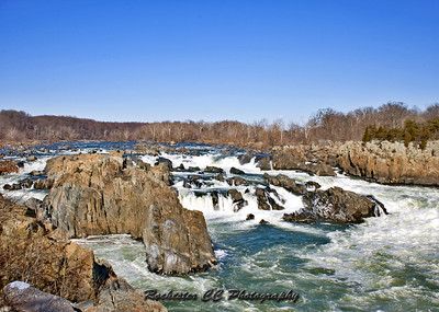 Great Falls Virginia on a very cold day in February.