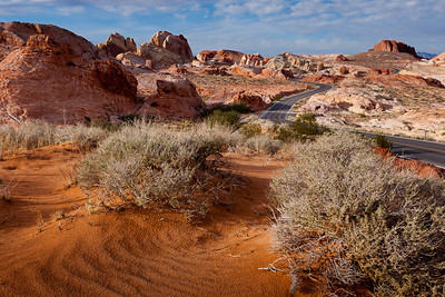 Near the top of the Scenic Drive, Valley of Fire State Park in Nevada.